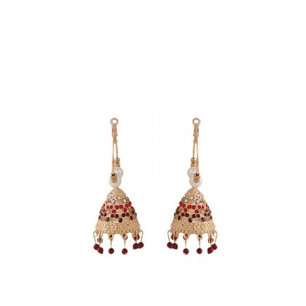 Jewellery Hut Golden Plated Jhumki Earrings for Women