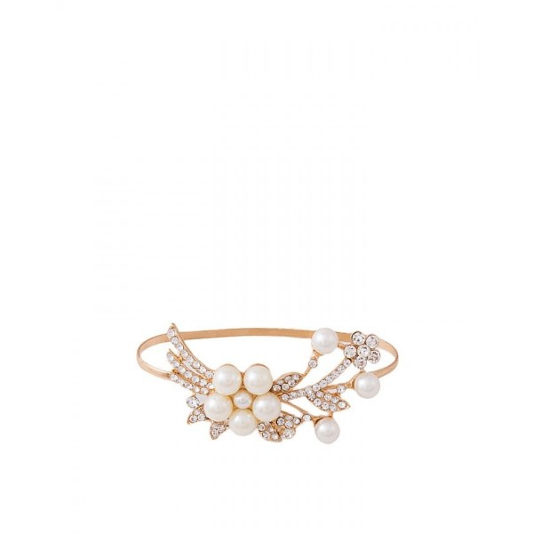 Golden Plated Pearl Hand Bangle for Women