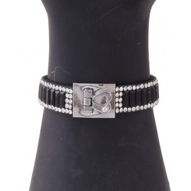Black Velvet Crystal Bracelet for Women