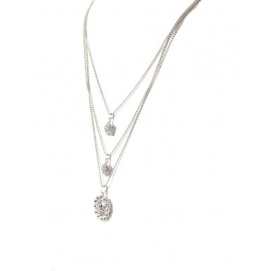Silver Rhodium Plated Pendant Chain for Women
