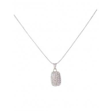 Silver Rhodium Plated Zirconic Pendant Set for Women