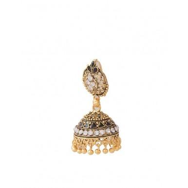 Golden Plated Antique Style Jhumki Earrings for Women