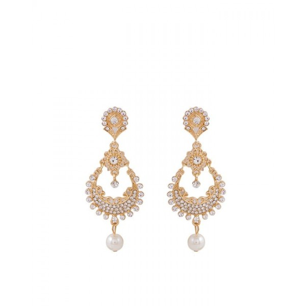 Golden Plated Traditional Pearl Earrings for Women