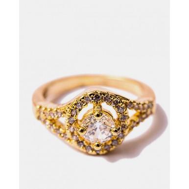 Elegant Gold Plated Zirconia Ring