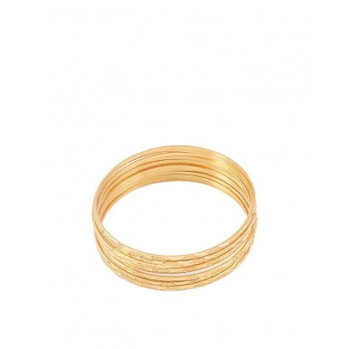 24k Gold Plated Bangles For Women Pack of 12