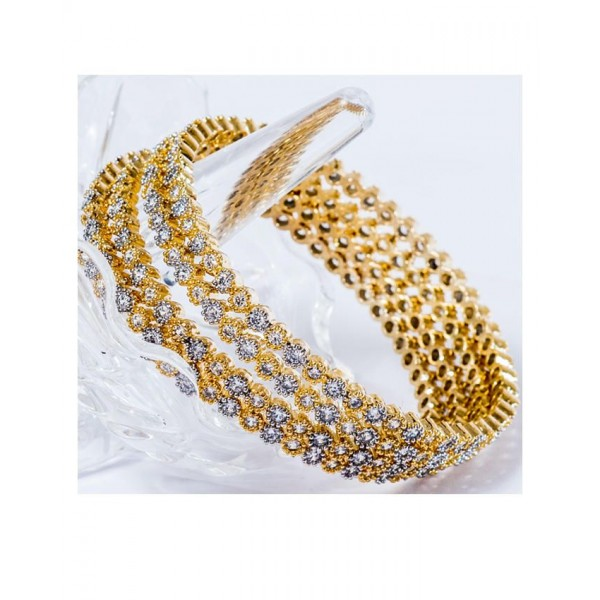 21K - Gold Plated - Daimonties Bangles - Rose Gold