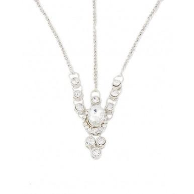 Silver Rodium Zircon Necklace Set