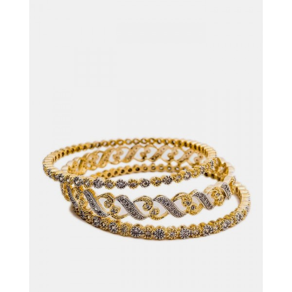 1k Gold Plated Adrains Bangles