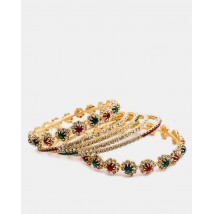 Gold Plated Zirconia Bangles Set
