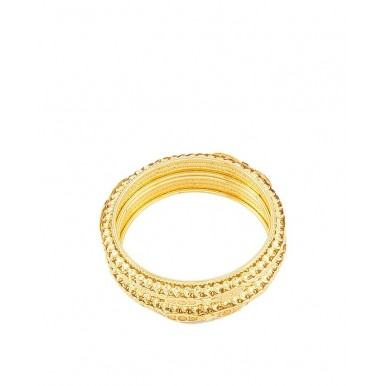 Pack of 2 - Golden Gold Plated Bangles For Women