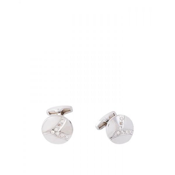 Silver Round Shape Cufflink