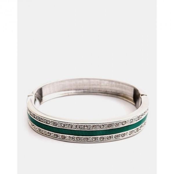 Jewellery Hut Silver Plated Coloured Strip Bracelet