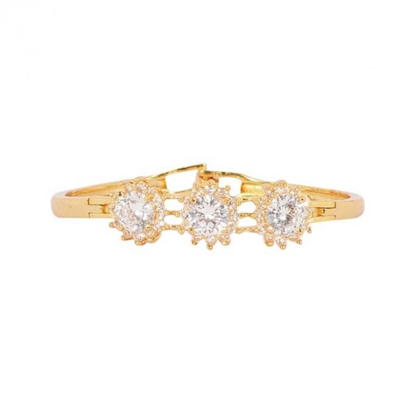 1K Gold Plated Zirconia Bracelet