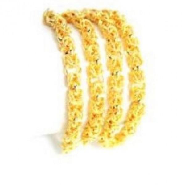 18K Gold Plated Four Bangles - Golden