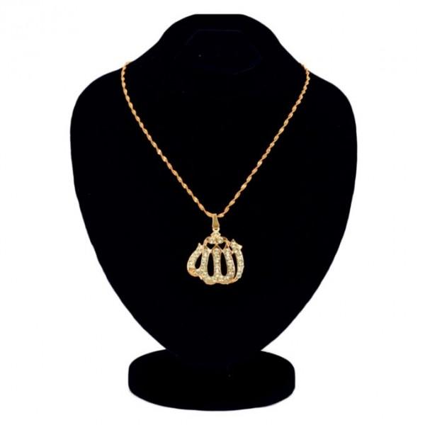 Gold Plated Zirconia Allah Locket