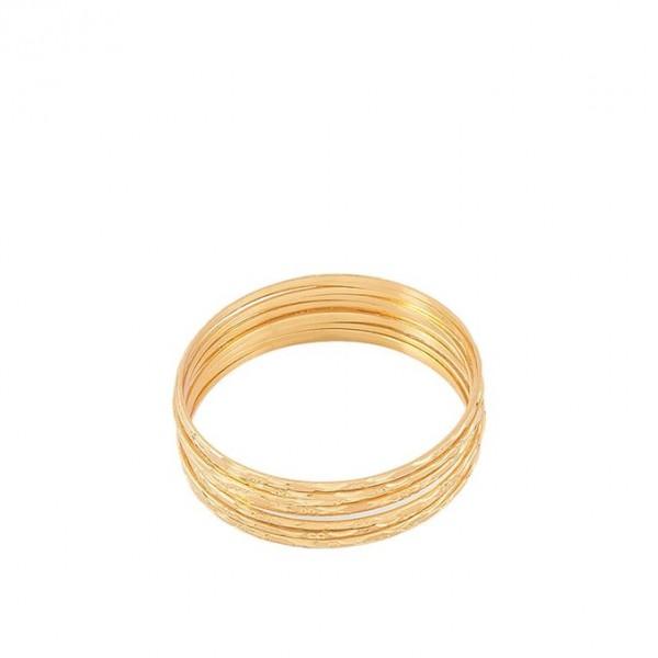 Pack of 12 - Golden 24k Gold Plated Bangles For Women