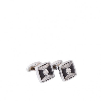 Silver Rhodium Cufflinks for Men