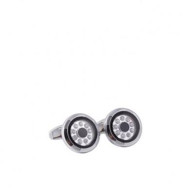 Silver Rhodium Cufflinks for Men