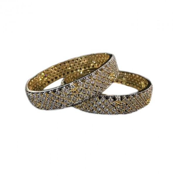 Pair of 1k Gold Plated Bangles