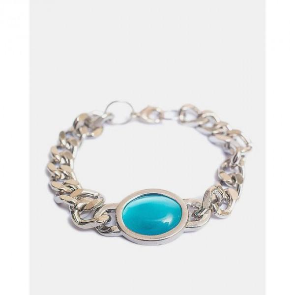Ferozi Alloy Silver Plated Bracelet