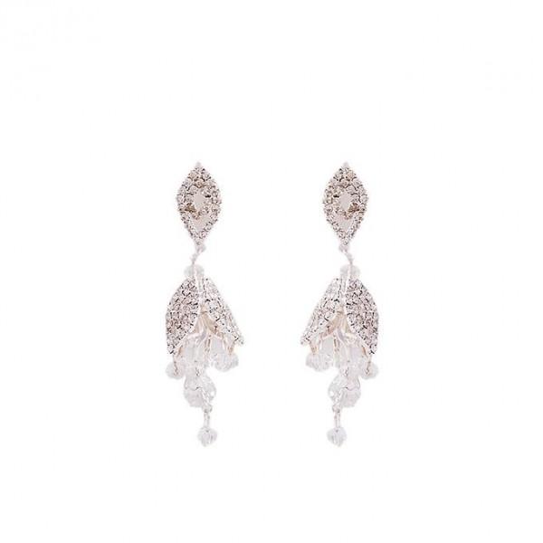 Rose Gold Plated Crystal Earrings for Women