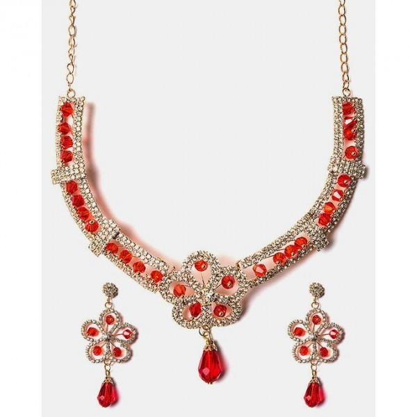 Gold Plated Zirconia Necklace Set