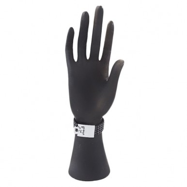 Black - Crystal - Strip Bracelet for Women
