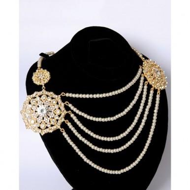 Gold Plated Kundan Matha Pati