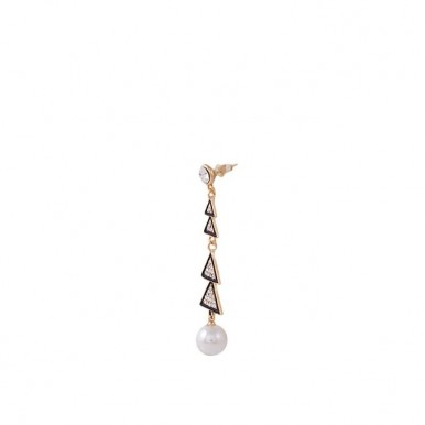 Golden Plated Pearl Earrings for Women