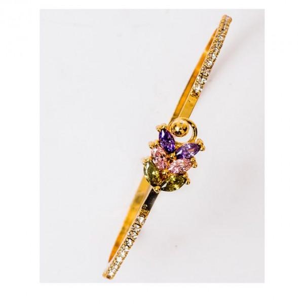 Gold Plated Multi Colour Bracelet