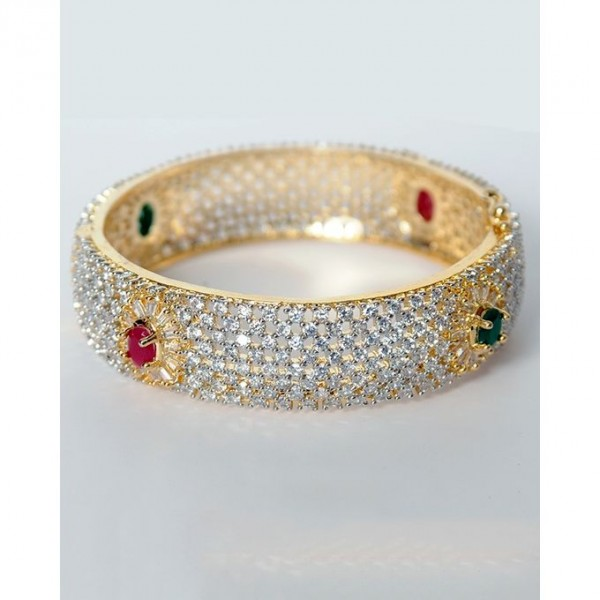 1k Gold Plated American Ruby Bangle