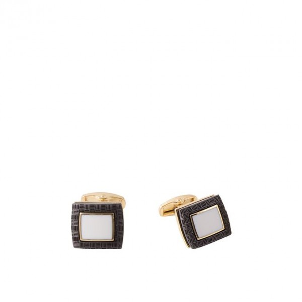 Pearl White Gold Plated Cufflink