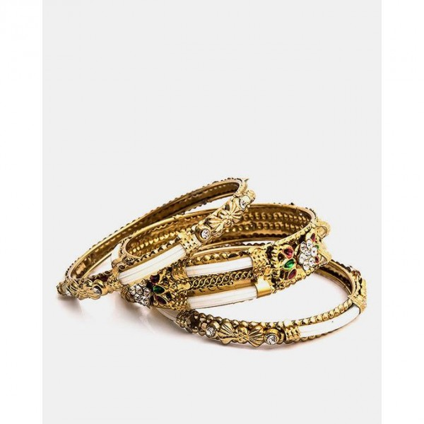 Gold Plated Antique Look Bangles