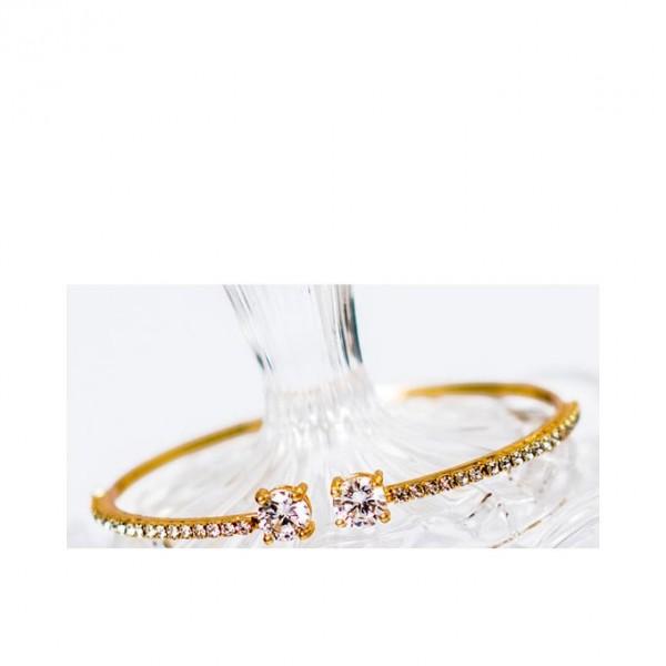 Gold Plated - Zirconia Bracelet - Golden