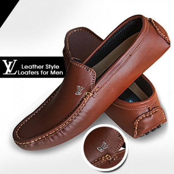 Brown Leather Loafers for Him