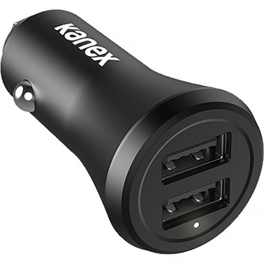 Car Charger With 2 USB Charging (Metal)