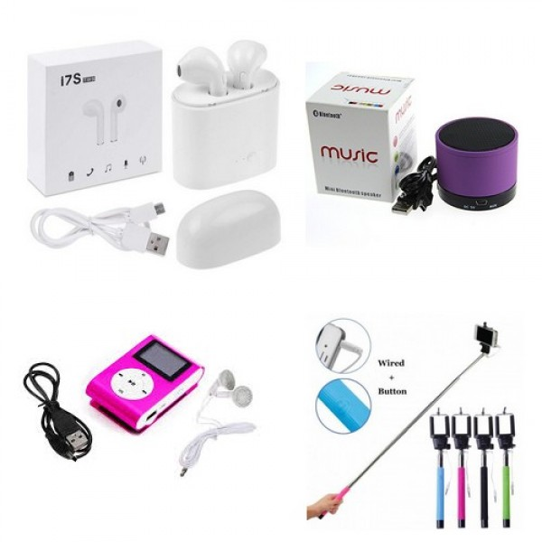 Pack of 04 Special Deal Of Mobile Accessories