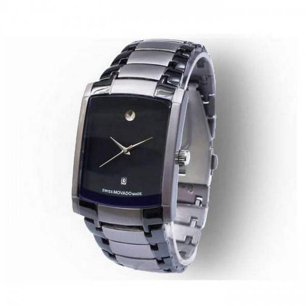 Square Two - Tone Wrist Watch For Mens