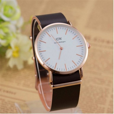 WD Watch For Men with Genuine Leather Strap