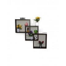 Wall Hanging Dark Brown Cut Shelf