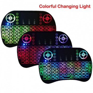 Backlit LED Mini  Wireless Keyboard Touchpad for PC Android TV Box Smart TV