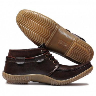 Men's Brown Ankle Shoes AC-024