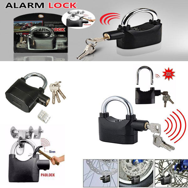 Padlock Alarm Security System For Door Motor Bike Bicycle