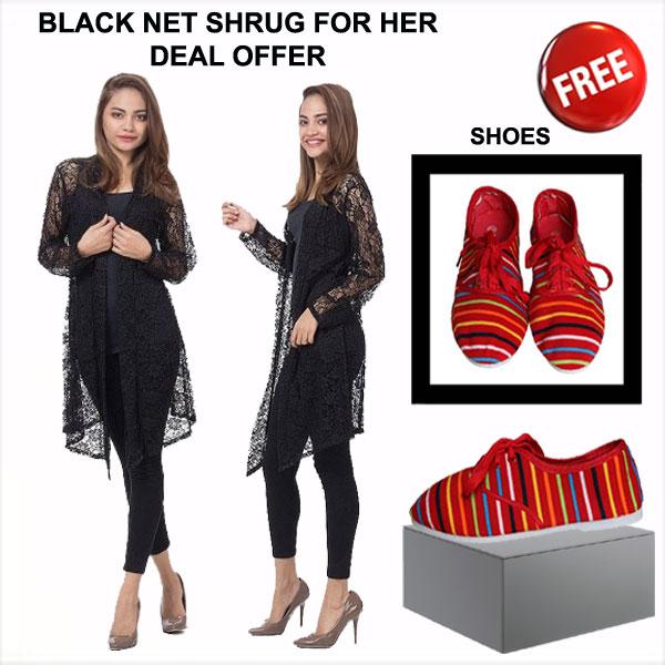 NET SHRUG DEAL OFFER - Buy Net Shrug Get Shoes Free