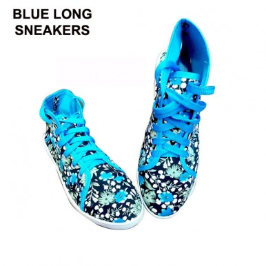 High top flower Printed Sneakers For Her