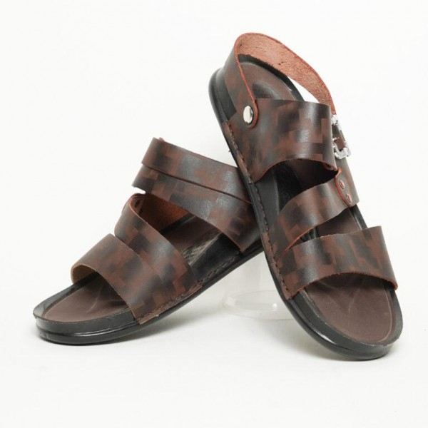Stylish Brown Open Toe Casual Sandal For Men