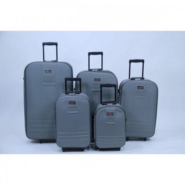 Cambridge Classic 5 Piece Luggage Set-Grey