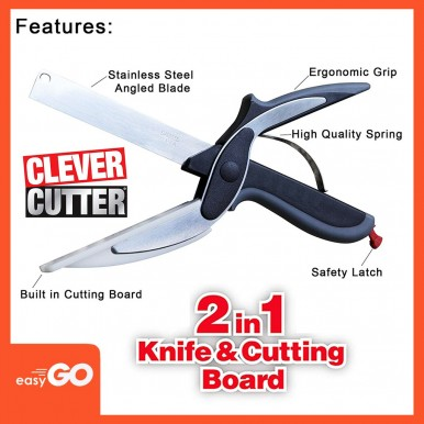 Clever Cutter 2-in-1 Knife & Cutting Board To Cut Perfectly