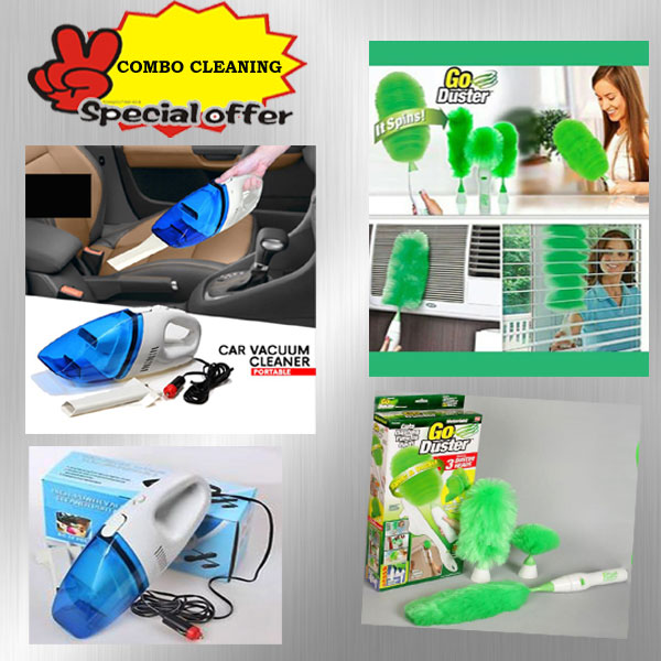 COMBO CLEANING SPECIAL OFFER - Duster and vaccum cleaner
