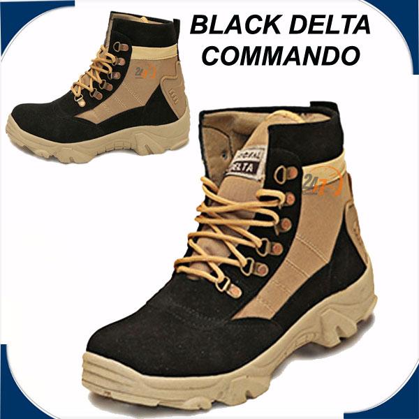 BLACK DELTA LONG BOOTS